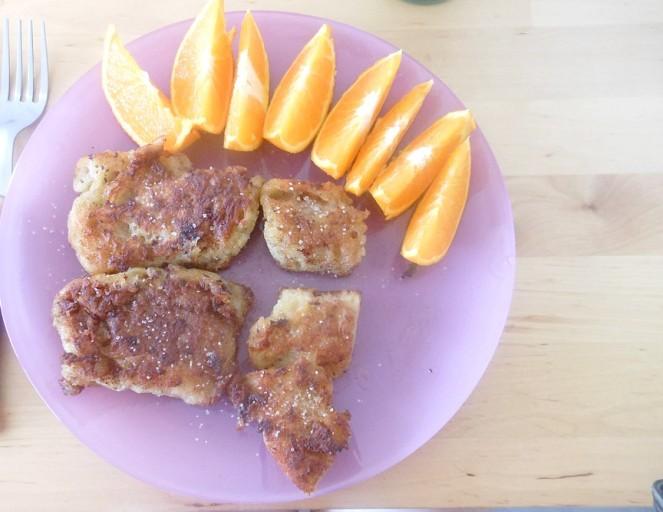 Une orange, pour le côté sain.. Mais surtout gourmand !